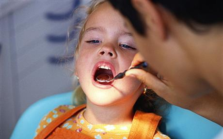 Child going to a dentist